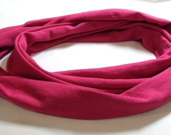 """Fushia knit tee shirt scarf  10 inches wide and 28"""" drop"""