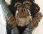 Chimp In A Tree Wall Hanging