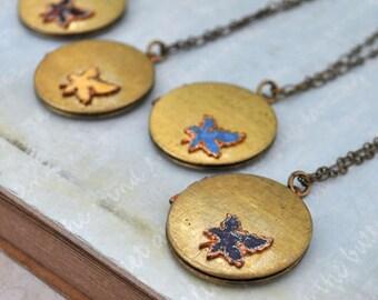 vintage locket necklace, tiny leaves, maple tree necklace, vintage leaf locket, tree of life locket