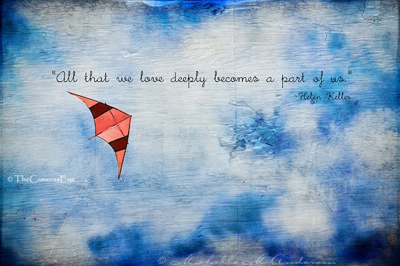 first valentines day quotes for husband - Items similar to Love Deeply Kite flying and quote by