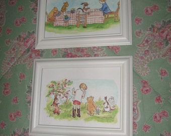 Classic Winnie the Pooh & Christopher Robin 4 x 6 Framed Prints