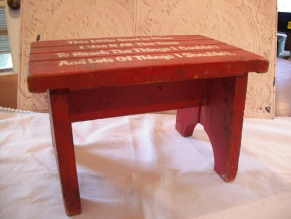 1930 1940s Child S Wooden Step Stool