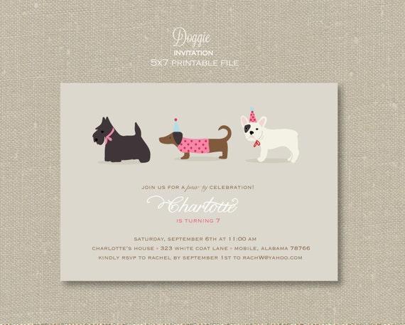 Invitations - Doggie