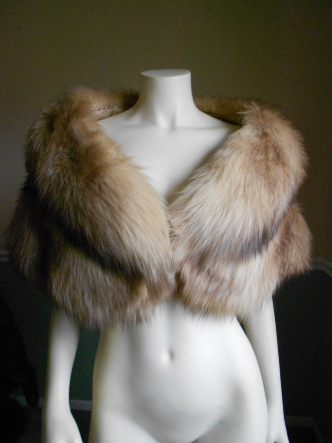 Reserved for marie do not buy fox fur stole vintage fox - Stoel fur ...