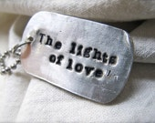 Rustic Military Style Custom Sterling Dog Tag (1)