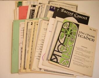 Vintage Choir, Glee Club, Chorus Sheet Music Collection