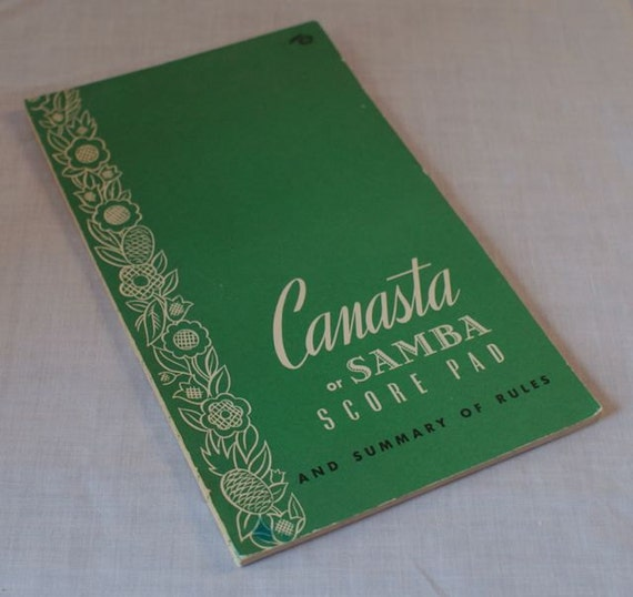 Vintage 50's Canasta Or Samba Score Pad And By Otrembarific
