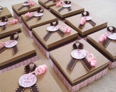 Half Price Sale - Its a Girl - Truffle Box - Gift Box - Treat Box - Favor Box  for Baby Shower (set of 24)