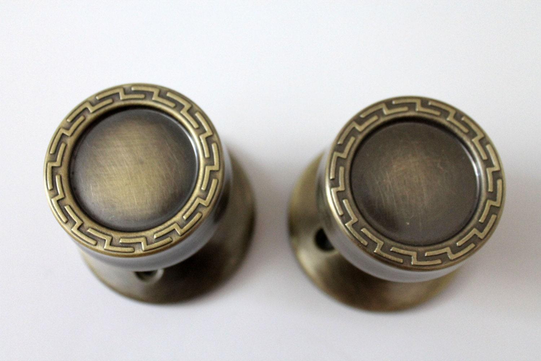 Mid century modern gold tone door knobs handles hardware 1960s - Contemporary interior door knobs ...