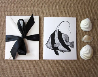 Angel Fish Note Cards Set of 10 with Matching Envelopes
