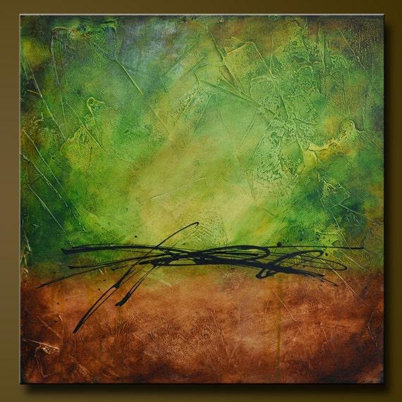 Spanish Moss 3 - 24 x 24 - Abstract Acrylic Painting - Contemporary Wall Art