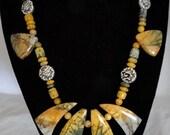 Multi Color Picasso Jasper gemstone  Necklace