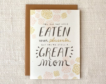 Mother's Day Card - Placenta