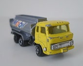 1970s Diecast Toy Car - Zylmex Mobil Fuel Tanker Truck Toy