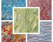 5  MARMORPAPIER marbled paper 5 sheets  pack   Scrapbooks  supply  florentine paper. 19.5