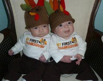 Infant Turkey Hat 6 - 12 Months
