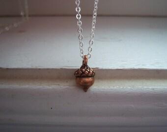 Acorn Necklace  - Kiss Necklace -Woodland Necklace -  Kiss Necklace -Wedding Necklace - Free Gift With Purchase