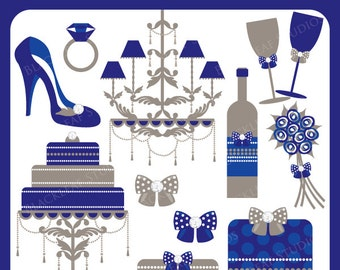 Wedding Winter Digital Download - wedding, marriage, bridal, shower, scrapbooking, registry, wedding - Personal and Commercial Use Clipart
