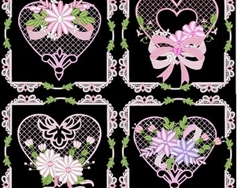 LOVE HEARTS FLOWERS - 24 Machine Embroidery Designs Instant Download 4x4 5x7 hoop (AzEB)