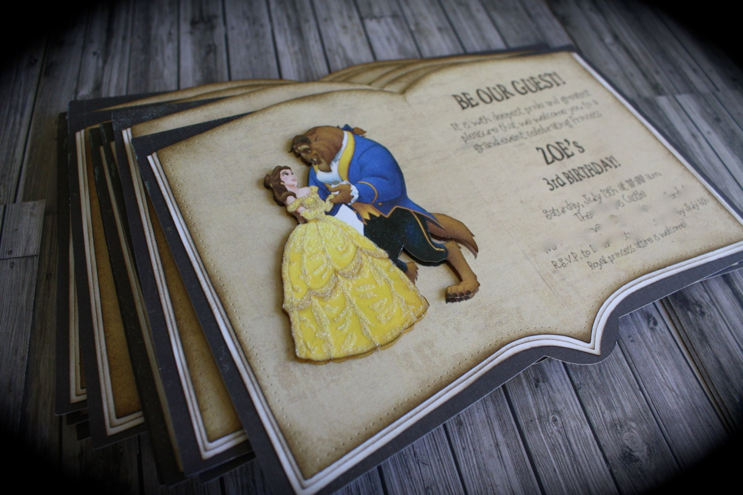 zoom - Beauty And The Beast Wedding Invitations