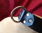 """Large 1"""" Leather D-Ring Collar"""