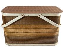 Vintage W.C. Redmon Picnic Basket