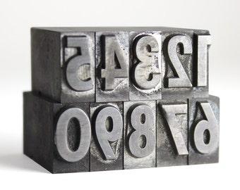 NUMBERS - 36pt Metal Letterpress (Spartan Black Condensed)