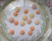 16 Small Flower Cabochons