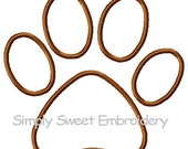 Puppy Paw Print Machine Embroidery Applique Design