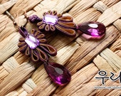 Ethnic Purple Oriental Earrings