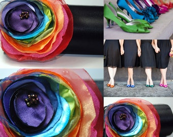 Personalized Clutch | Rainbow Wedding | Wedding Party | Bridesmaid Gift Idea | Bridal Accessories - Bridal Clutch - Rainbow Wedding Theme