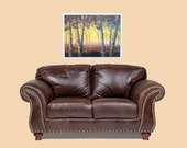Large landscape painting, birch trees, couch art 18x24