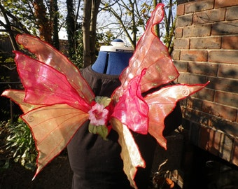 Beautiful OOAK Red Fire Fairy Wings