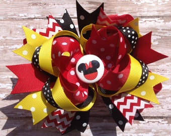 Minnie Mouse Hair Bow, Disney Bow, Infant Headband, Baby Headband, Newborn Headband, Mickey Mouse Bow, Baby Shower, Minnie Mouse Headband