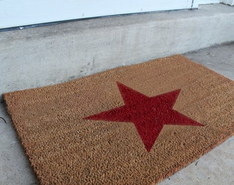 Fourth of July Star doormat