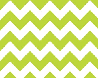 SALE - Riley Blake - Medium Chevron in Lime