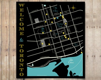 Custom Wedding Map for Out of Town Bags. Visitor Guide : Any Event or Purpose, Any Location Worldwide