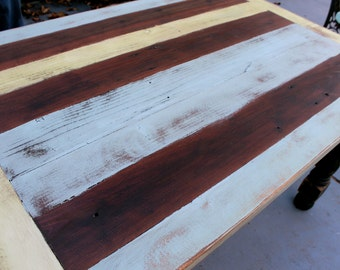 Rustic Coffee Table - Wooden - Wood - Shabby Furniture - French Country - Rustic Decor - Handmade Furniture - 45 Long x 20 Wide x 16 Tall