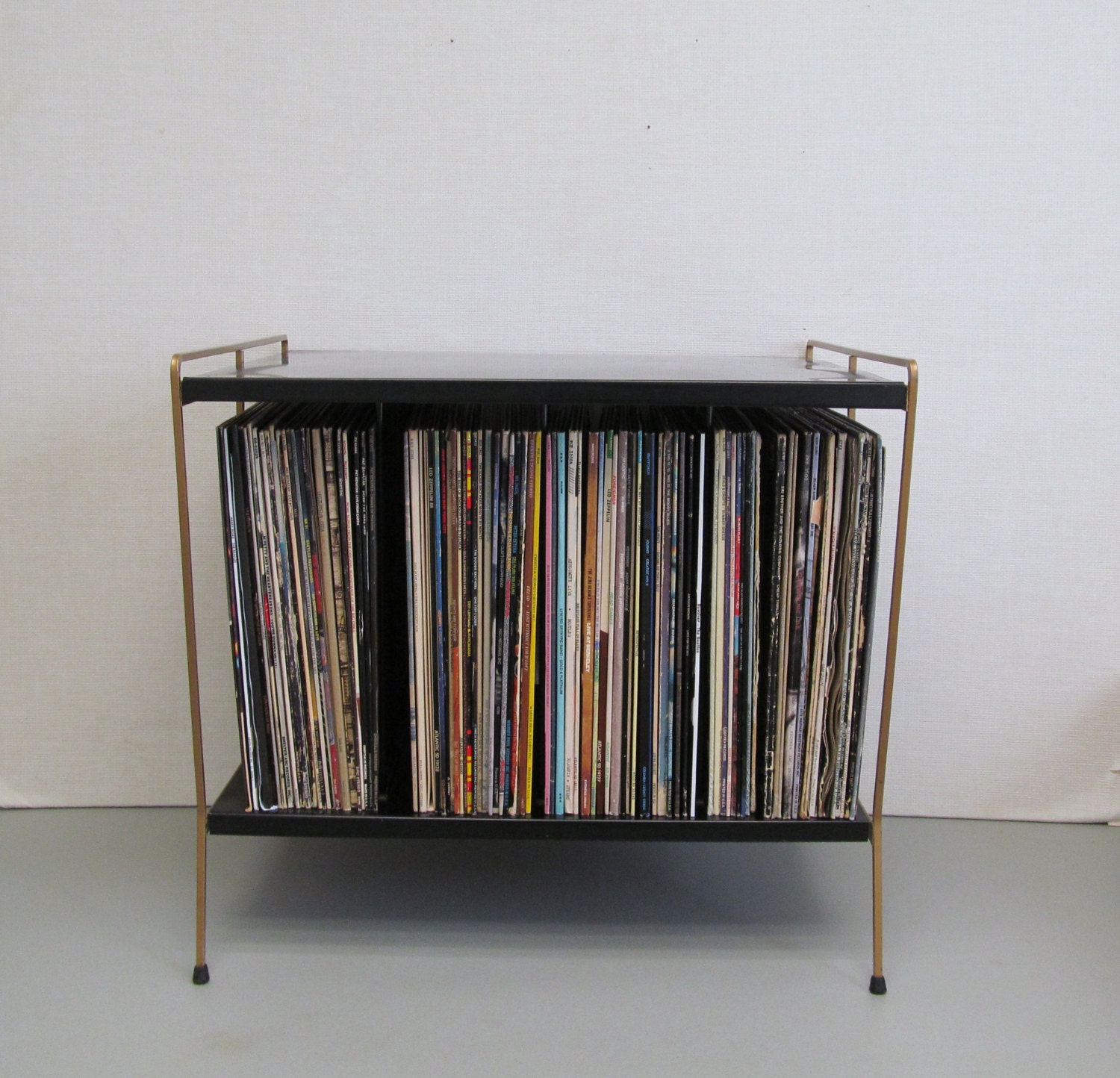 Vintage Mid Century Modern Record Player Table And Record