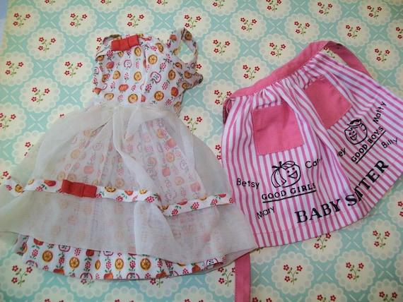 ... , 1970s, Barbie, doll clothes, doll clothing, apple print, sun dress