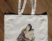 Wolf Song Illustration - Eco Tote Bag