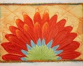 Orange Daisy Postcard