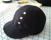 Wool retro bike cap with studs. FREE SHIPPING