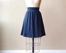 Jersey Skirt Color Choice, Cotton Jersey, Aline, modern chic style- made to order