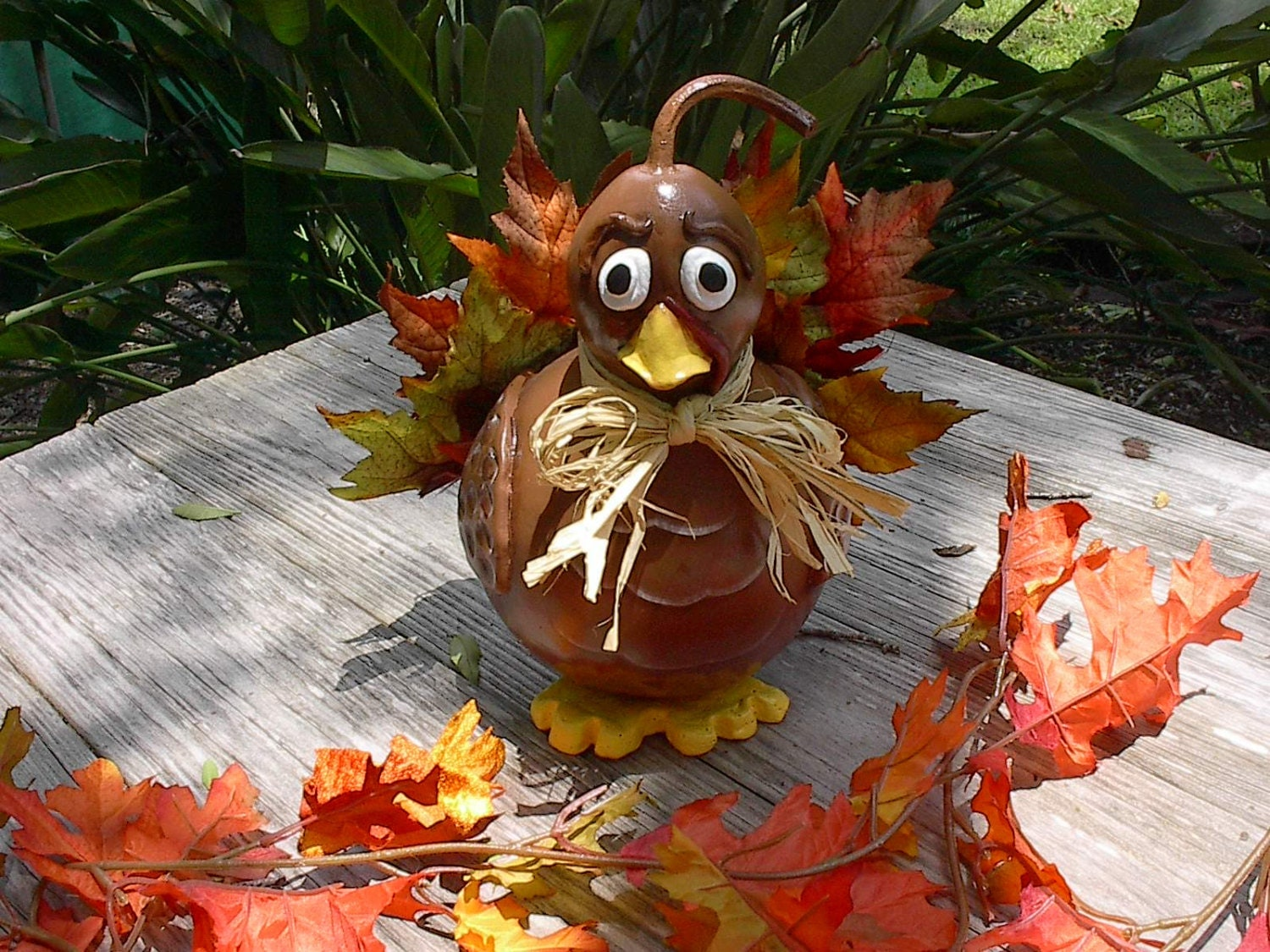 Gourd thanksgiving turkey fall home centerpiece by