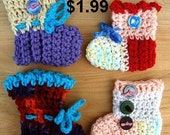 CROCHET PATTERN, cute colorful baby booties, slippers, newborn to 12 months, unisex, FFA38, instant pdf digital download,