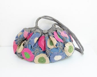 Happy Hobo Bag Crochetted Multicolor