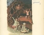 The Home Under the Ground - Peter Pan Vintage Print 1931, Tree, Mushroom, Gwynedd Hudson, Children , Home Underground