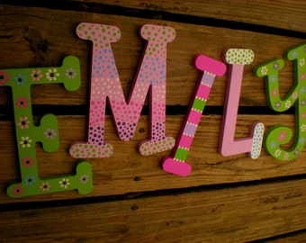 Name Wall Letters - Kids Name Letters - Whimsical Font - Nursery Letters - Baby Name