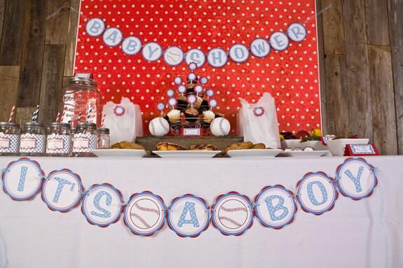 baseball baby shower banner its a boy party sign baseball